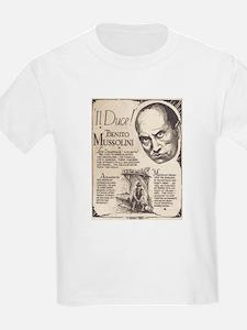 Vintage Benito Mussolini Poster Kids T-Shirt