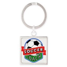 Soccer Coach Square Keychain