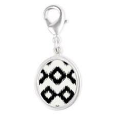 Ikat Black and White Mixes Charms