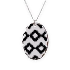 Ikat Black and White Mixes Necklace