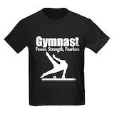 Boys gymnastics Kids T-shirts (Dark)