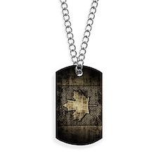 Canadian Flag Grunge Metal Dog Tags