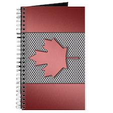 Canadian Flag Brushed Metal Journal