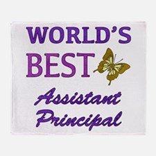 World's Best Assistant Principal (Butterfly) Throw