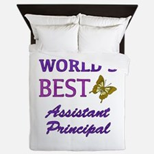 World's Best Assistant Principal (Butterfly) Queen