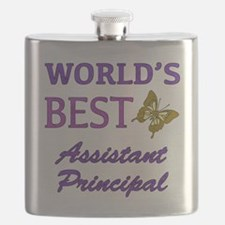 World's Best Assistant Principal (Butterfly) Flask