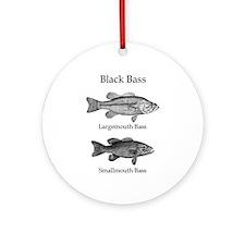 Black Bass Logo (line art) Ornament (Round)