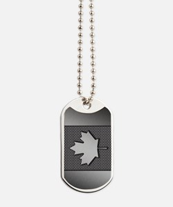 Canadian Flag Brushed Metal Canada Dog Tags