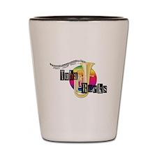 Tuba Rocks Shot Glass