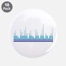 "Equalizer music sound 3.5"" Button (10 pack)"
