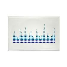 Equalizer music sound Rectangle Magnet