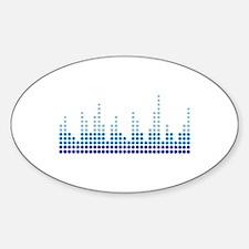 Equalizer music sound Sticker (Oval)