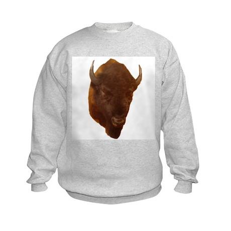 bison head Kids Sweatshirt