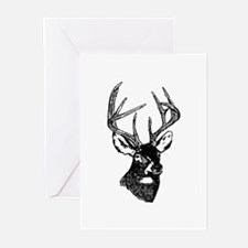 White Tailed Deer 10 Point Buck Greeting Cards