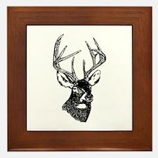 White Tailed Deer 10 Point Buck Framed Tile