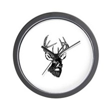 White Tailed Deer 10 Point Buck Wall Clock