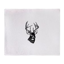 White Tailed Deer 10 Point Buck Throw Blanket