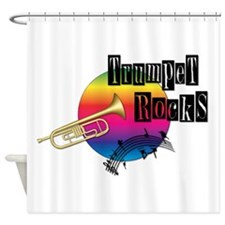 Trumpet Rocks Shower Curtain