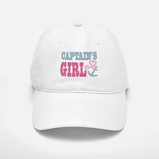 Baseball Baseball Captains Girl Boat Anchor and Heart Baseball Baseball Baseball Cap