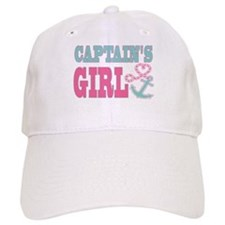 Baseball Captains Girl Boat Anchor and Heart Baseball Baseball Cap