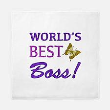 World's Best Boss (Butterfly) Queen Duvet