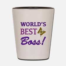 World's Best Boss (Butterfly) Shot Glass