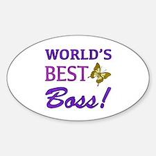 World's Best Boss (Butterfly) Decal