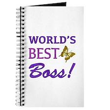 World's Best Boss (Butterfly) Journal