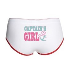 Captains Girl Boat Anchor and Heart Women's Boy Br