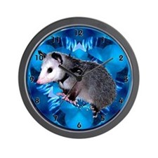 Baby Possum Kaleidoscope Wall Clock