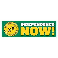 Independence Now Bumper Bumper Sticker