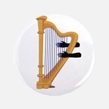 """harp and hands graphic 3.5"""" Button (100 pack)"""