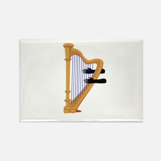 harp and hands graphic Magnets