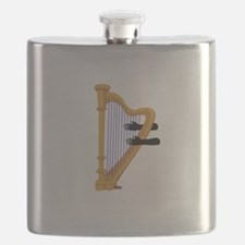 harp and hands graphic Flask