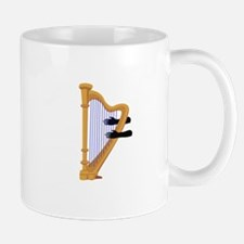 harp and hands graphic Mugs