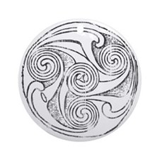 Celtic Interlace Light Round Ornament