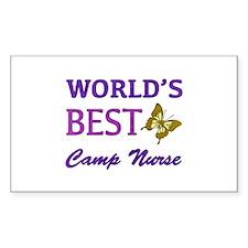 World's Best Camp Nurse (Butterfly) Decal