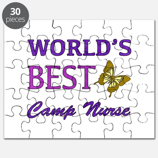 World's Best Camp Nurse (Butterfly) Puzzle