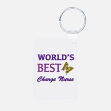 World's Best Charge Nurse (Butterfly) Keychains
