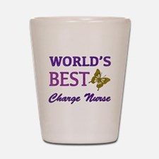 World's Best Charge Nurse (Butterfly) Shot Glass