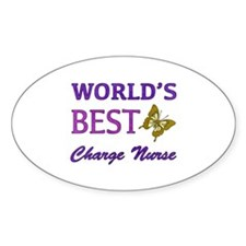 World's Best Charge Nurse (Butterfly) Decal