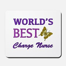 World's Best Charge Nurse (Butterfly) Mousepad
