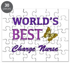 World's Best Charge Nurse (Butterfly) Puzzle