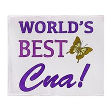 World's Best CNA (Butterfly) Throw Blanket