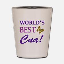 World's Best CNA (Butterfly) Shot Glass