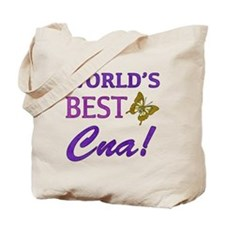 World's Best CNA (Butterfly) Tote Bag