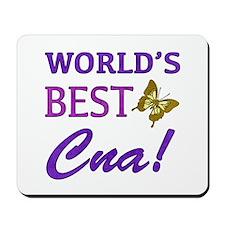 World's Best CNA (Butterfly) Mousepad