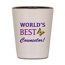 World's Best Counselor (Butterfly) Shot Glass