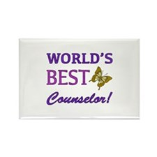 World's Best Counselor (Butterfly) Rectangle Magne