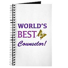 World's Best Counselor (Butterfly) Journal